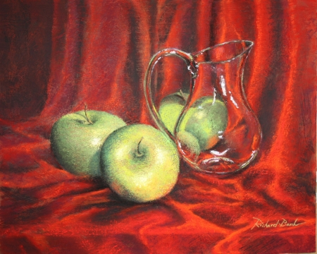 Apples and Pitcher by artist Richard Banh