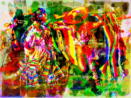 Ballet Folklorico by artist Don Barrett