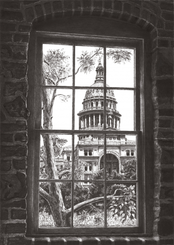 Capitol of Texas by artist Norman Bean