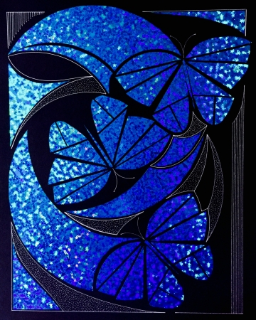 Blue Butterflies by artist Peter Bellonci