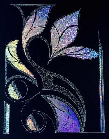 Holographic Leaves by artist Peter Bellonci