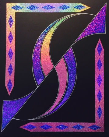 Holographic Purple by artist Peter Bellonci