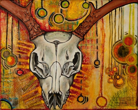 Deer Skull by artist Joy Bliss