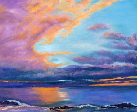 Intense Maui Sunset by artist Vicki Brevell