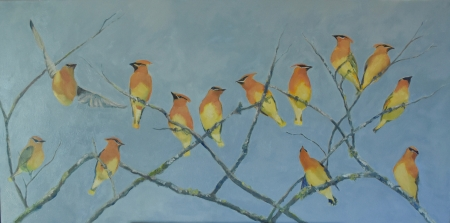 Cedar Waxwings II by artist Tammy Brown