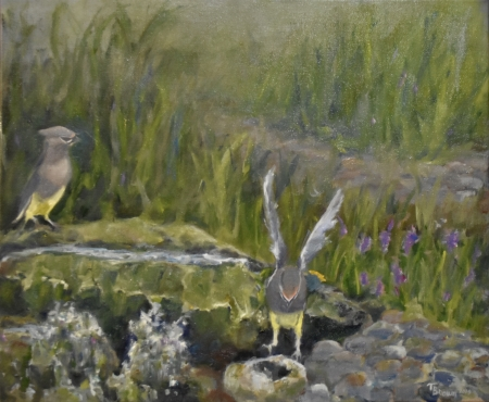 Cedar Waxwings: The Landing II by artist Tammy Brown