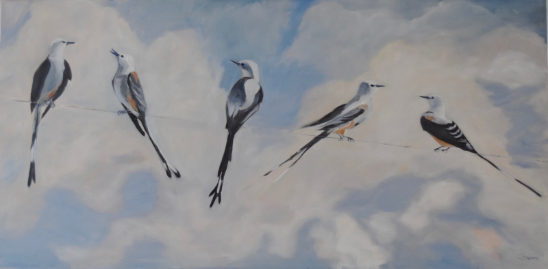 Scissortails II by artist Tammy Brown