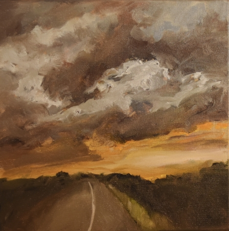 Sunset, La Grange by artist Tammy Brown