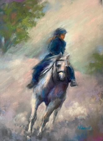 Evening Ride by artist Nana Carrillo