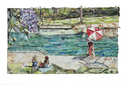 Barton Springs Pool, Austin TX by artist Laurie Carswell