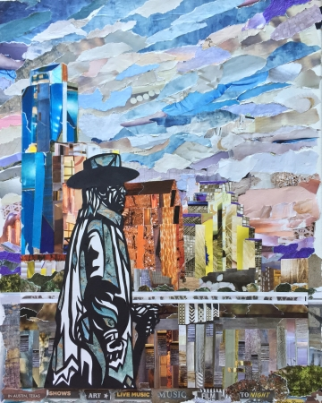 Stevie Ray Vaughan Statue, Austin TX by artist Laurie Carswell