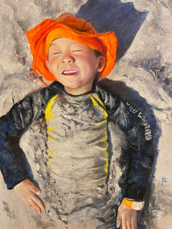 Boy in the Sand by artist Yingying Chen