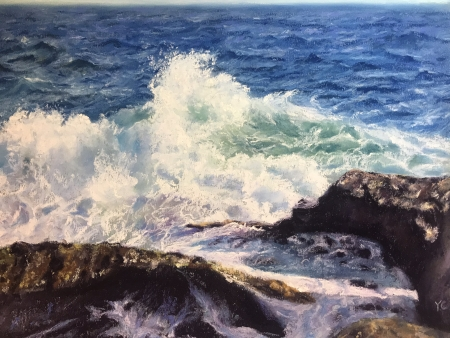 The waves by artist Yingying Chen