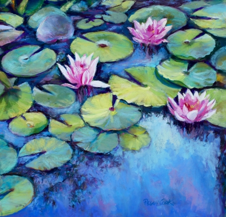 Water Lilies by artist Peggy Cook