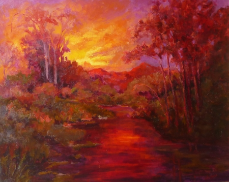 Evening Glow by artist Janelle Cox
