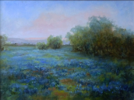 Fields of Blue by artist Janelle Cox