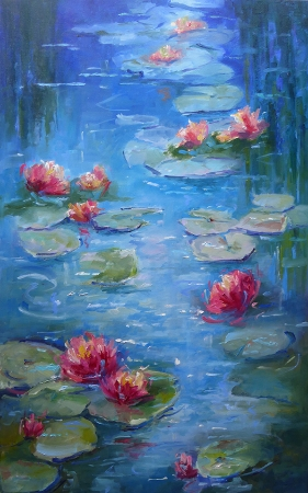 Water Lilies by artist Janelle Cox