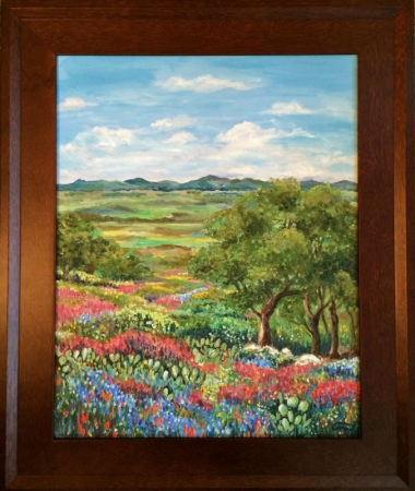 Hill Country Wildflowers by artist Luz Curran-Gartner