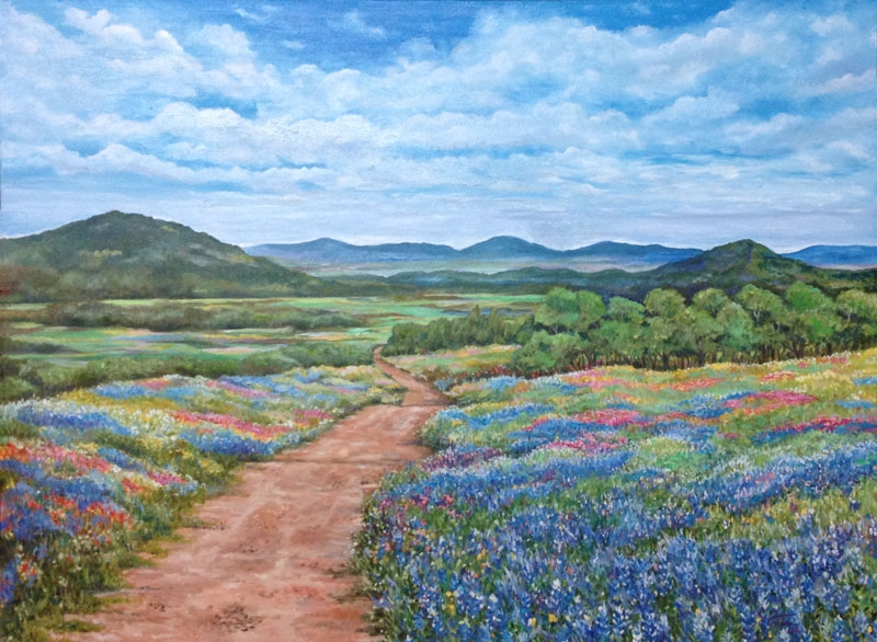 Texas Dirt Road by artist Luz Curran-Gartner