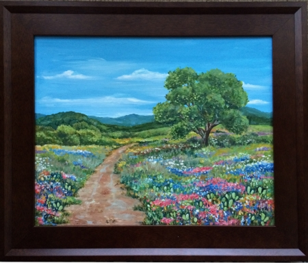 Wildflowers on Dirt Road 1 by artist Luz Curran-Gartner