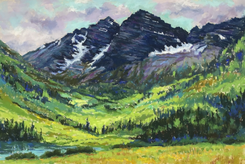 Maroon Bells by artist Mike Etie