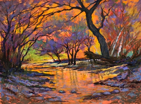Oak Creek Sedona AZ by artist Mike Etie