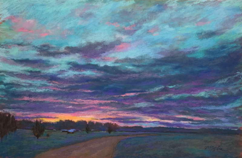 Sundown on the Ranch by artist Mike Etie
