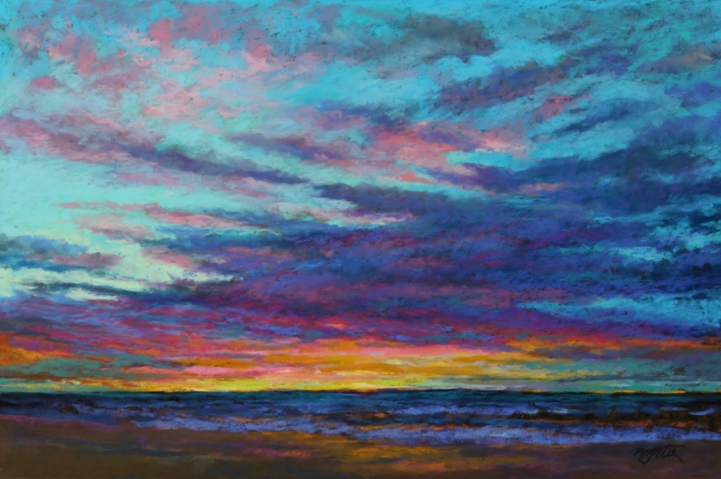 Sunrise West Beach by artist Mike Etie