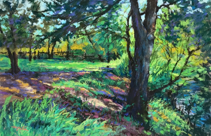 Trail to Salt Lick-Onion Creek by artist Mike Etie
