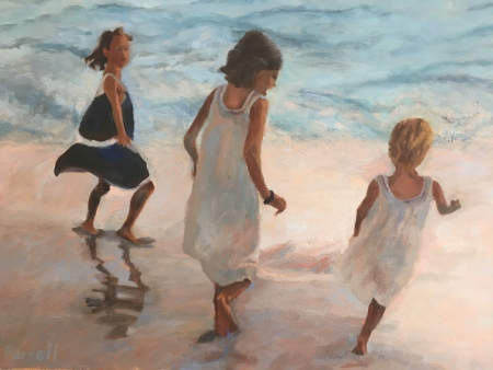 Beach Play by artist Sandra Farrell