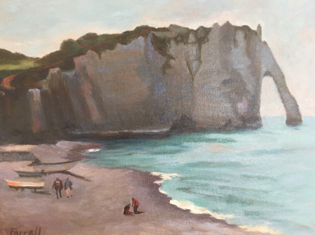 Etretat in April by artist Sandra Farrell