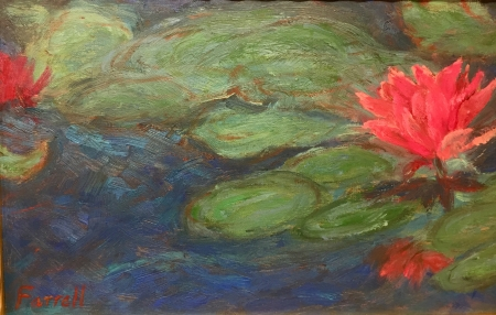 Lotus n Lilly Pads by artist Sandra Farrell