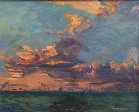Sunset Over the Ocean by artist Sandra Farrell