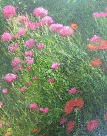 Wildflowers in France by artist Sandra Farrell