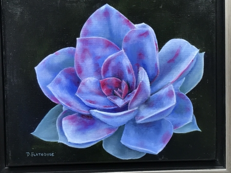 Blue Succulent by artist Pat Flathouse
