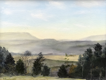 Grey Green Mountains by artist Pat Flathouse