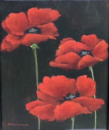 Red Poppies by artist Pat Flathouse