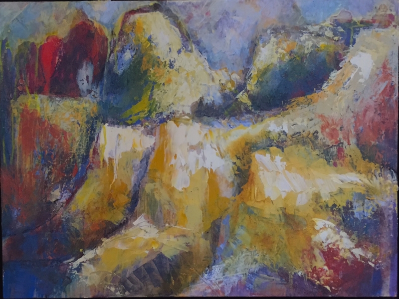Mountain Range by artist Ann  Flemings