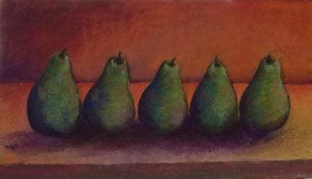 All in a Row: Late Evening by artist Julia Fletcher