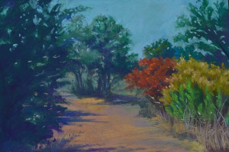 Sumac in the Fall by artist Julia Fletcher