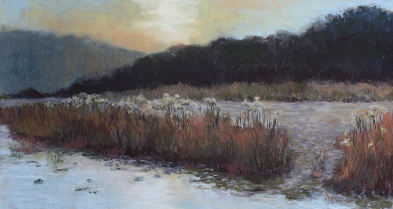 Sundown at the River by artist Jan Frazier