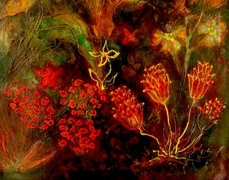 Midnight Floral 5 by artist Francine Funke