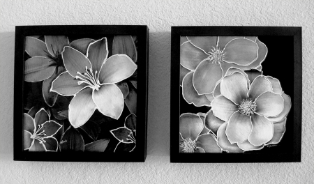 Neutral Floral 7&8 by artist Francine Funke