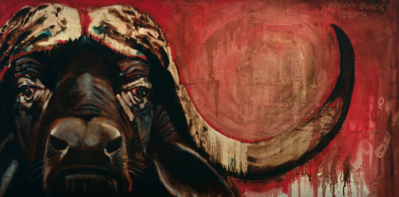 AFRICA'S BLACK DEATH by artist DOUG GILES