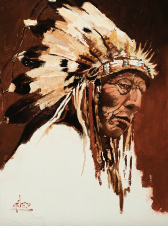 CHIEF OF THE HIGH PLAINS by artist DOUG GILES