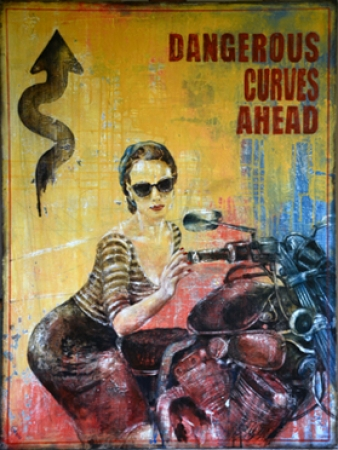 Dangerous Curves Ahead by artist Anna  Ganina