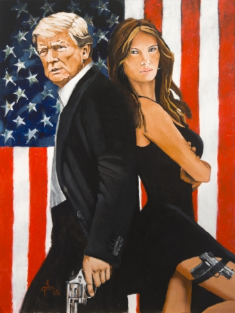 Mr and Mrs Trump by artist DOUG GILES