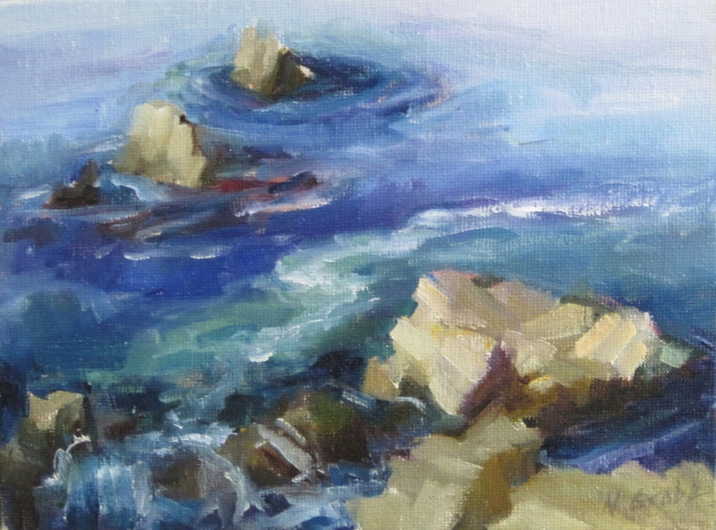 Rocks at Monterey by artist Nancy Grobe