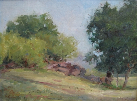 Spring Morning Zilker Park by artist Nancy Grobe