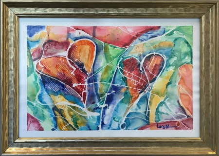 Twin Hearts by artist lacy husmann